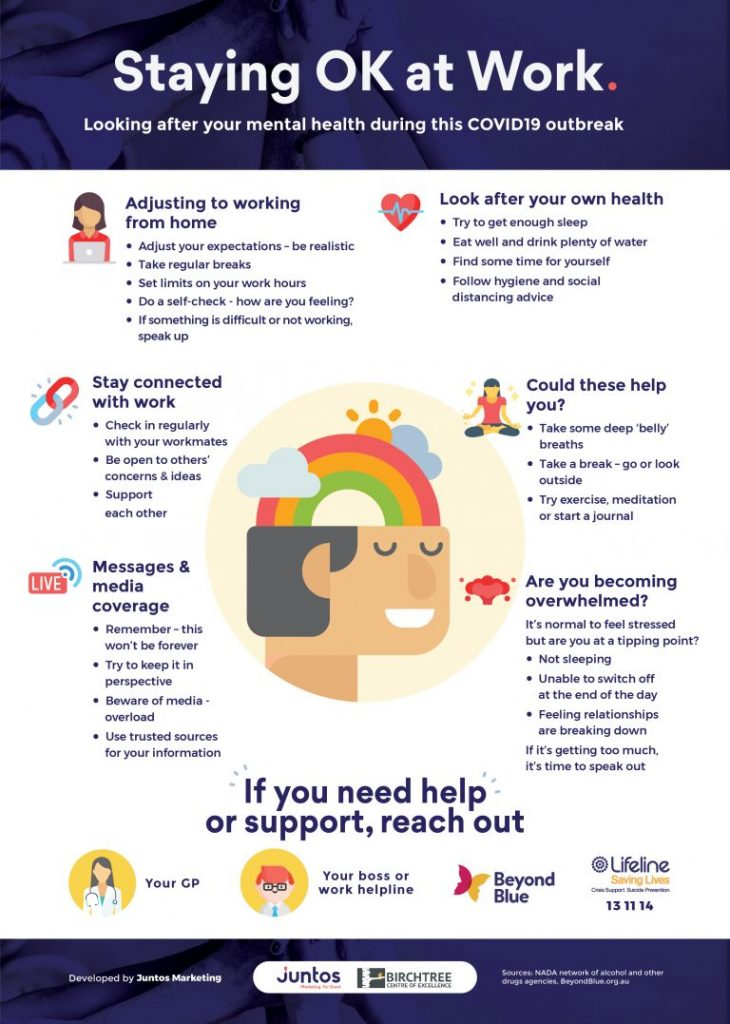 A downloadable list of ways that you can look after your team's mental health